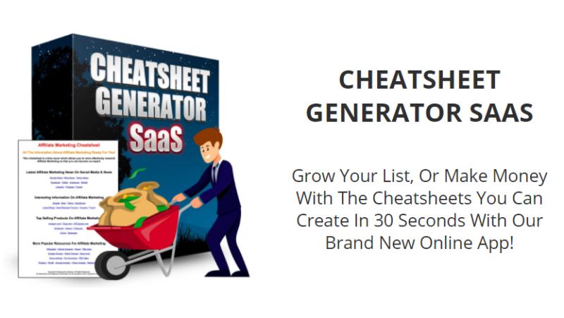 Cheatsheet Generator SaaS & OTO by Alessandro Zamboni
