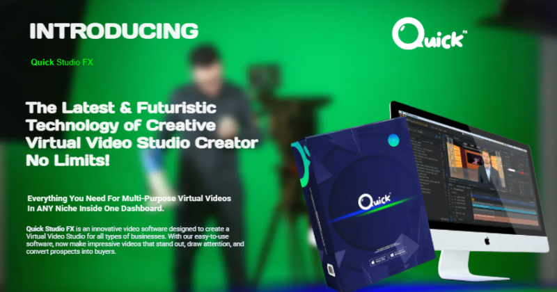Quick Studio FX Software & OTO by Arif Chandra - New advanced video creator with complete huge collection of video templates library and video materials
