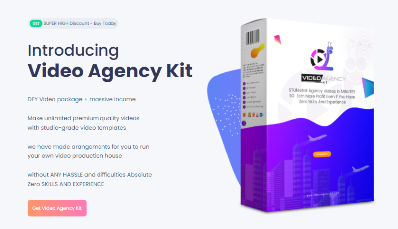 Video Agency Kit Pack & OTO Review by Adam Dzulfikar - Make Custom Studio Grade Video with 30 DFY HQ Video Templates And Business Agency Kits