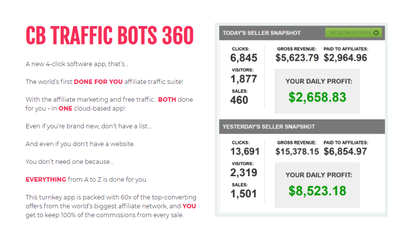 CBTrafficBots 360 Software Review + OTO