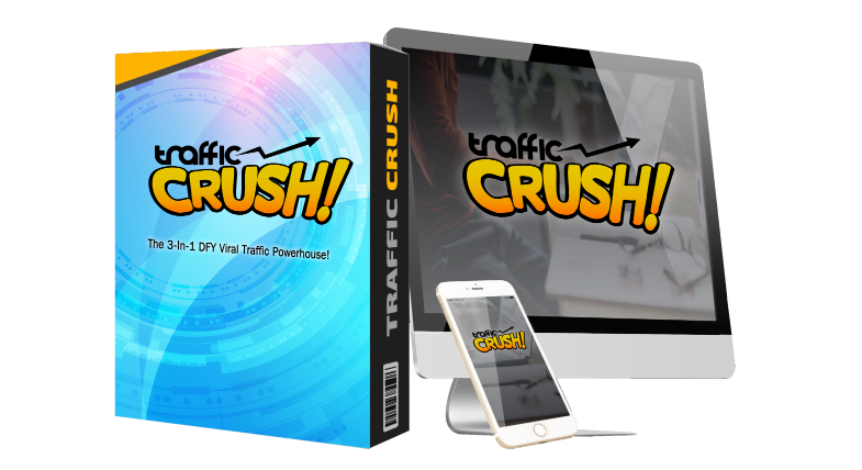 TrafficCrush Software Review + OTO - Best 3-in-1 Viral Traffic Software with Viral Video Creator and BLASTS Your Link To Millions Of Buyers On Youtube, Instagram and Twitter for massive viral traffic and affiliate commission