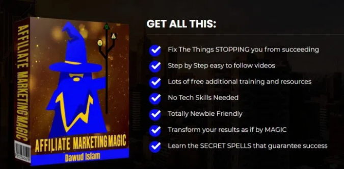 Affiliate Marketing Magic Review & OTO by Dawud Islam