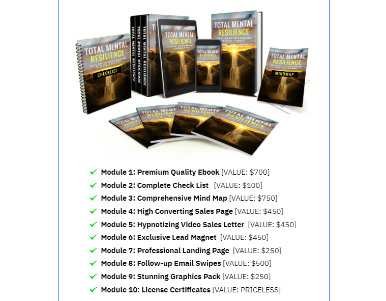 Total Mental Resilience PLR Review OTO