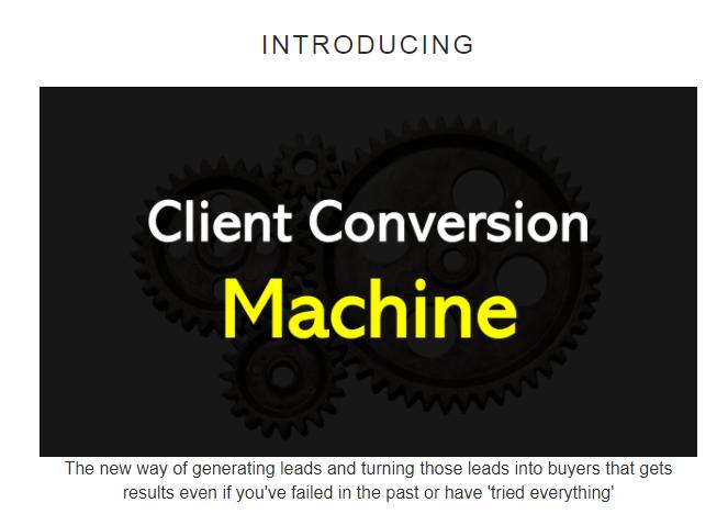 Client Conversion Machine OTO 1, OTO 2, OTO 3, and OTO 4
